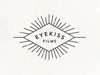 Eyekiss Films branding eyekiss films production company diamond rays illustration