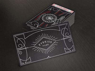 Eyekiss Films Business Card branding eyekiss films production company diamond rays illustration