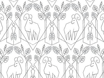 Zodiac Aries design juku nature geometric illustration pattern zodiac aries