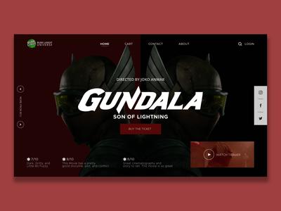 Gundala Putra Petir dribbble dailywebdesign indonesia desain user experience web design user interface concept adobexd website web ux ui typography design