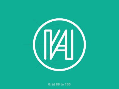 Namshi monogram logo monogram degraphiclly design branding