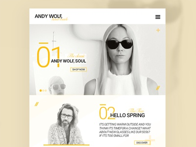 Andy Wolf  website  swiss flat webui interface ux web ui andywolf