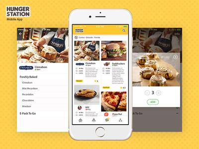 Hungerstation mobile app  flat appdesign digital app mobile ux ui