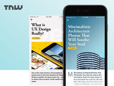 Suggested TNW app digital flat app ios webdesigner uxdesign creative interface design ux dribbble ui