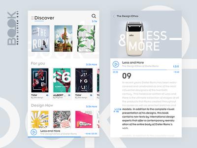 Book read listen Go!  digital interface graphicdesigner graphic appstore apps uxdesign ux ui