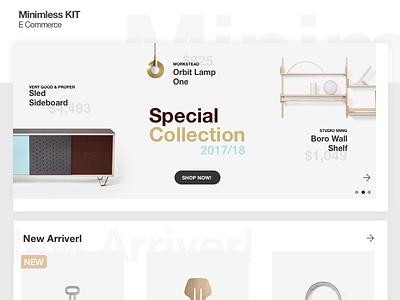 Minimless Kit minimal clean modern free site ecommerce kit ux ui