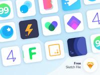 Free 12 App icons