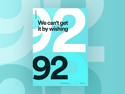 4 of 100 poster webdesign web ui typography swiss space positive design color beautiful 2017