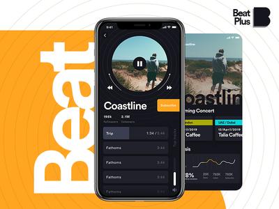Beat Plus app ux ui app things stranger spotify playing now music