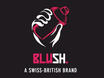Logo Design for Blush Beer branding concept branding design brand brand identity brand design branding logo design icon illustrator illustration art design vector illustration logo logodesign logos
