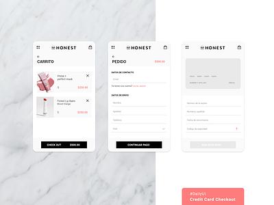 Credit Card Checkout / #DailyUI adobexd dailyui design mobile ui ux
