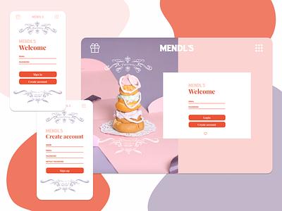 Sign up #DailyUI filmmaker pink website design web design web ui logo designs film figmadesign desktop mobile mendls branding design mobile ui dailyui figma grandhotelbudapest