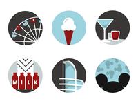 LA Trip Icons