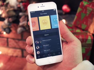 PalUp ios iphone app friend connect mood icon interface ui ux