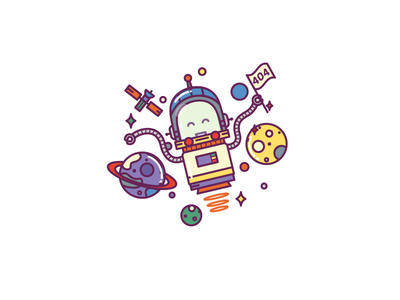 Page Not Found icons smile astronaut space cut doodle iconfinder emotions illustration
