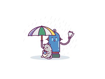Sayonara cry bye illustration emotions doodle cut smile icons cat