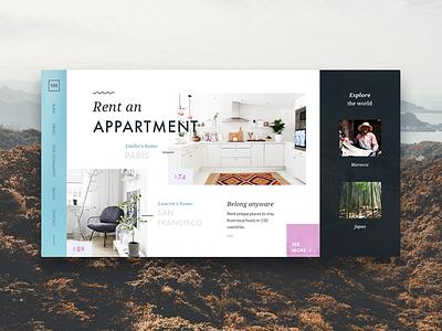 Stodom - rent an appartment webdesign website concept layout flats appartment rent ui