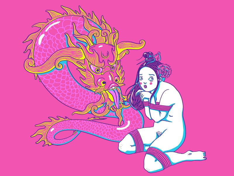 Kink #26 all four bondage bdsm fetish nude shibari kinbaku kinky kink illustration erotic cute cartoon