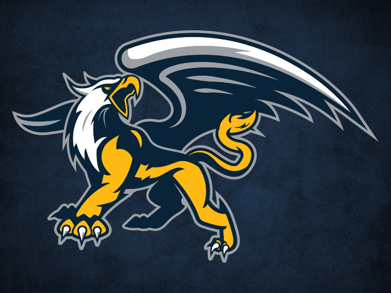Delaware Met Primary griffin logo sports
