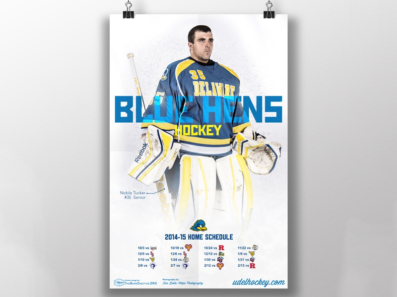 UofD Hockey Poster schedule poster hockey