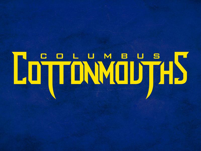 columbus cottonmouths lockup type hockey logo sports