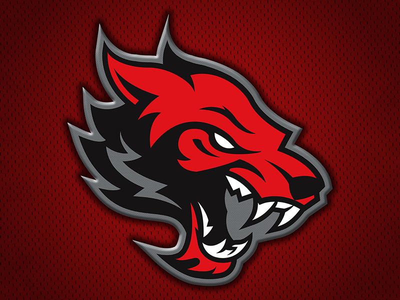 Conrad RedWolves logo sports high school wolves