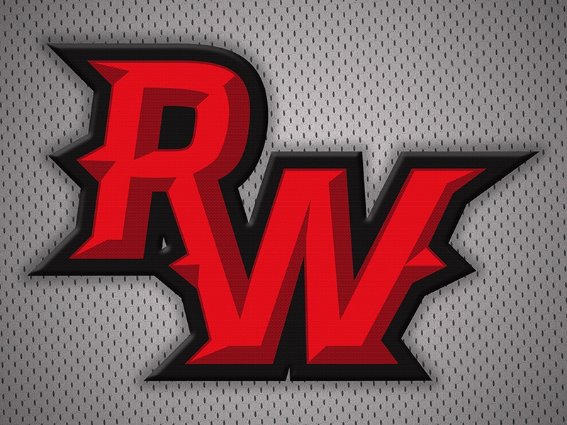 RW mark sports athletics logo monogram