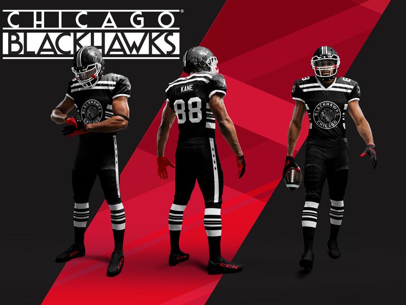 Chicago Winter Classic Mashup mashup jersey design hockey sports