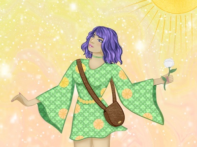 The Fool character procreate digital art illustration tarot card tarot