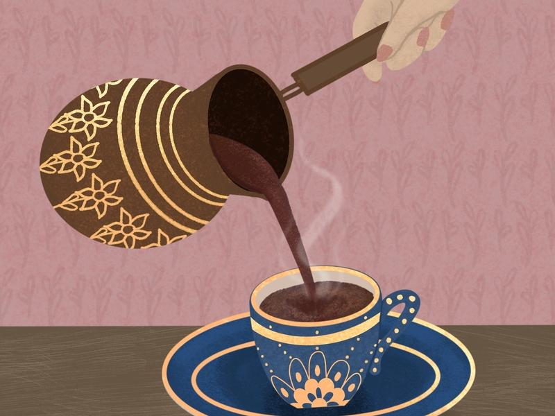 Coffee Illustration digital art coffee cup graphics coffee drawing illustration