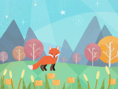 Mid-century modern fox childrens illustration childrens book photoshop art drawing digital art illustration