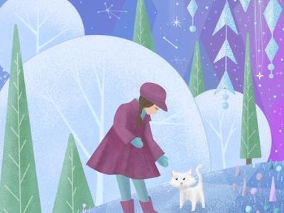 Winter Wonder childrens book illustration childrens illustration childrens book photoshop art procreate drawing digital art illustration