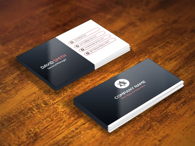 CORPORATE BUSINESS CARD black modest simplistic colorable mnimalist illustrator corporate business cmyk blue