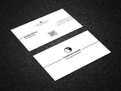 CORPORATE BUSINESS CARD black colorable modest mnimalist simplistic illustrator corporate business cmyk white
