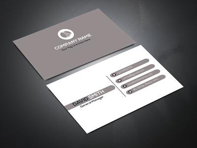 CORPORATE BUSINESS CARD white modest black simplistic mnimalist illustrator corporate colorable cmyk business