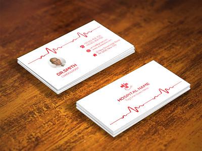 HOSPITAL BUSINESS CARD business card hospital medical business black design colorful white modest illustrator cmyk simplistic mnimalist