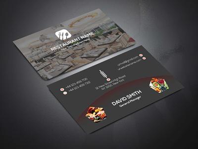 RESTAURANT BUSINESS CARD restaurant black business design colorful modest illustrator cmyk simplistic mnimalist