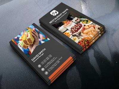 RESTAURANT BUSINESS CARD restaurant black design colorful modest illustrator cmyk simplistic mnimalist