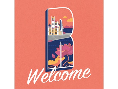 #3  Welcome to Astrakhan logo design vector illustration брендинг логотип иллюстрация дизайн