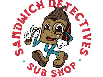 Sandwich Detectives vector typography illustration logo graphicdesign graphic design