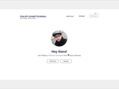 Front-end Developer Portfolio Website