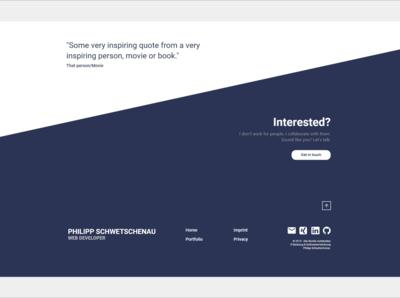Front-end Developer Portfolio Website End