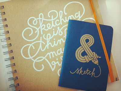 Companions – big and small custom sketchbook sketchbook lettering