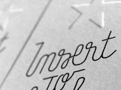 Insert... lettering offscreen
