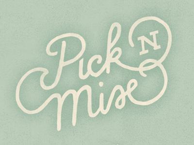 Pick'n'Mix lettering illustration