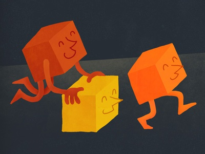 Happy Cubes illustration