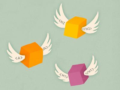 Code wings illustration