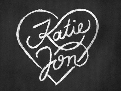Katie & Jon lettering sketch