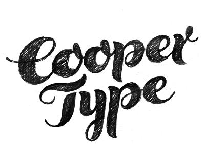 Cooper Type lettering