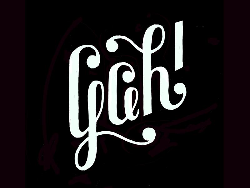 Gah! lettering